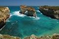 Картинка море, волны, вода, скалы, берег, арка