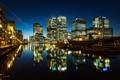 Картинка свет, ночь, город, огни, река, Англия, Лондон