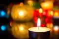 Картинка свет, огни, огонь, свеча, боке