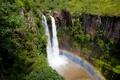 Картинка водопад, радуга, африка