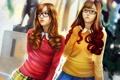 Картинка арт, девушки, школьницы, очки, азиатки