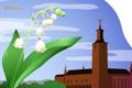 Картинка цветок, город, путешествия, Швеция, туризм, Sweden, ландыш
