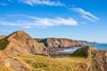Картинка море, небо, скалы, Англия, Девоншир