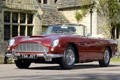 Картинка красный, дом, Aston Martin, классика, передок, Астон Мартин, воланте