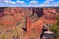 Картинка небо, облака, весна, США, заповедник, штат Аризона, Каньон-де-Шей