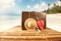 Картинка песок, море, пляж, лето, солнце, отдых, шляпа