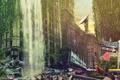 Картинка город, здание, олень, City, Street by namo, 3210, by 445578gfx