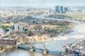 Картинка мост, река, Лондон, дома, горизонт, панорама, Темза
