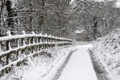 Картинка зима, дорога, забор