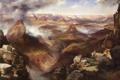 Картинка небо, горы, тучи, дождь, картина, каньон, колорадо