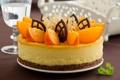 Картинка апельсины, шоколад, торт