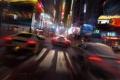 Картинка машины, ночь, город, гонка, арт, drive