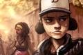 Картинка арт, зомби, девочка, Michonne, walking dead, Clementine, telltale games
