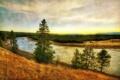Картинка США, пейзаж, река, трава, HDR, Montana, Йеллоустон