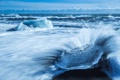 Картинка облака, небо, льдина, лед, волны, море