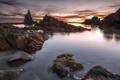 Картинка море, скалы, рассвет, побережье