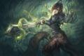Картинка девушка, оружие, фантастика, магия, меч, арт