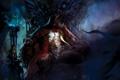 Картинка злость, кровь, волосы, вампир, плащ, трон, Konami