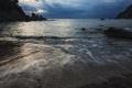 Картинка камни, залив, тучи, море