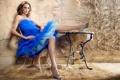Картинка Girl, Sexy, Blue