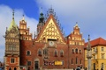 Картинка люди, небо, дома, Польша, ратуша, Вроцлав