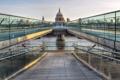 Картинка St Paul cathedral, Millennium Bridge, London