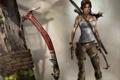 Картинка пистолет, лук, Лара Крофт, tomb raider, героиня, Lara Croft, ледоруб