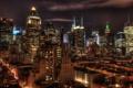 Картинка night, usa, ночь, огни, нью-йорк, new york, Manhattan