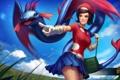 Картинка девушка, юбка, костюм, hon, Heroes of Newerth, Calamity, 8-Bit