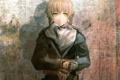 Картинка девушка, солдат, art, военная форма, смущение, huke, врата штейна
