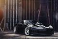 Картинка отражение, чёрный, Z06, Corvette, Chevrolet, шевроле, black