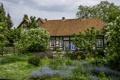 Картинка трава, деревья, цветы, дом, Германия, сад, кусты
