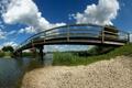 Картинка небо, мост, берег