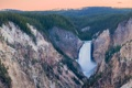 Картинка лес, пейзаж, природа, скалы, водопад, каньон, национальный парк