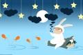 Картинка минимализм, аниме, Кролик, арт, Волк, Заяц, Wolf
