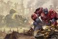 Картинка Transformers: Fall of Cybertron, Bumblebee, Автоботы, Optimus Prime, Трансформеры