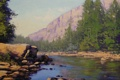 Картинка река, рисунок, арт, artsaus, colorado river painting