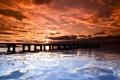 Картинка мост, ночь, море