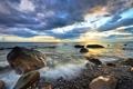 Картинка море, небо, пейзаж, камни