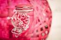 Картинка размытость, банка, розовые, белые, трубочки, баночка, соломка