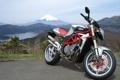 Картинка брутал, мв агуста, MV Agusta, Brutale, озеро, фудзияма, мотоцикл