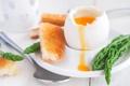 Картинка яйцо, завтрак, тост, спаржа, всмятку