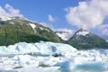 Картинка лед, море, небо, облака, снег, горы, айсберг
