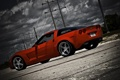 Картинка небо, красный, тучи, Z06, Corvette, Chevrolet, red