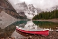 Картинка Banff National Park, Sunrise, Moraine Lake, Canoe
