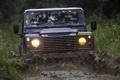 Картинка фон, грязь, джип, внедорожник, Land Rover, передок, Defender