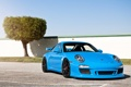 Картинка небо, синий, дерево, забор, порш, порше, porsche 911 gt3