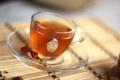 Картинка стекло, чай, утро, бамбук, чашка