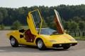 Картинка желтый, Lamborghini, двери, суперкар, Countach, ламборгини, коунтач