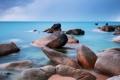 Картинка море, пляж, небо, гладь, камни
